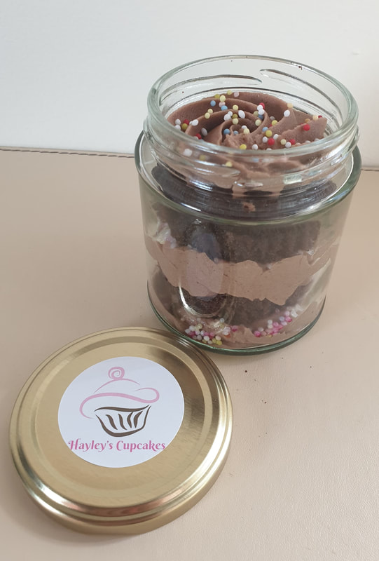 Hayley's Cupcakes Chocolate Sprinkle Jar Cake