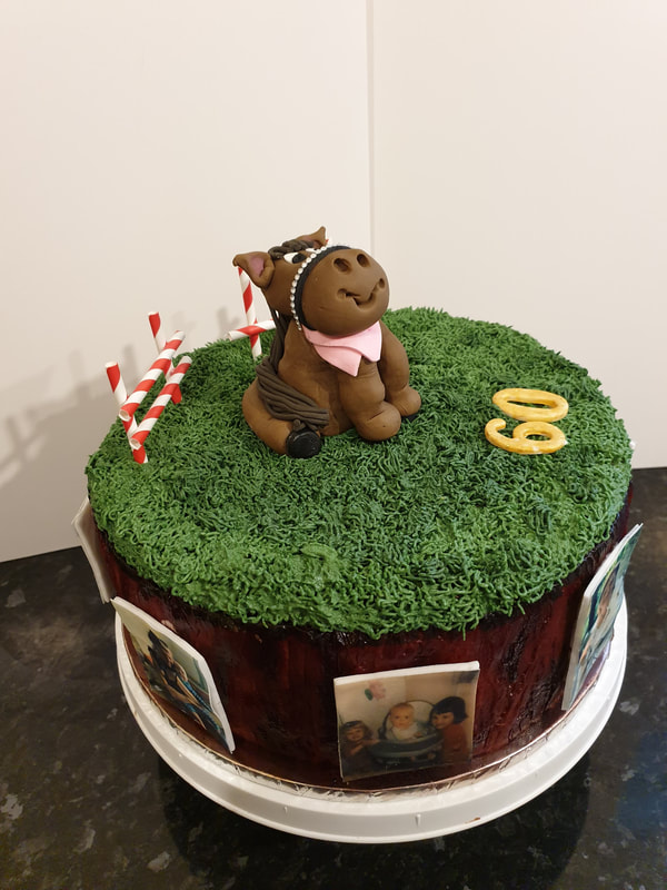 Hayleys cupcakes celebration cakes horse themed with edible printed photos