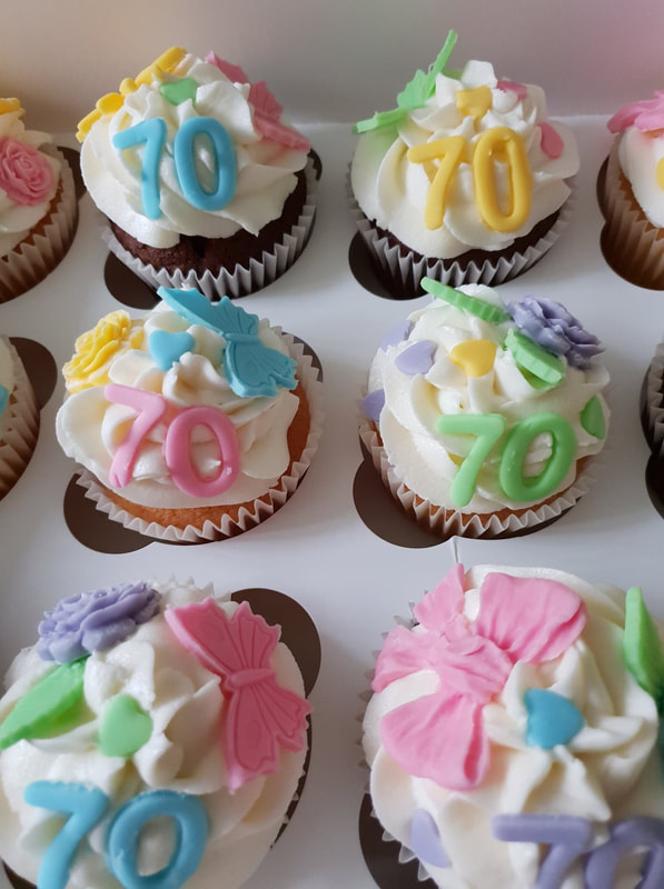 Hayleys cupcakes Henley on Thames Mixed 70th